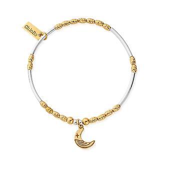 ChloBo GMBMNSR4019 Women's Two Tone Luna Moon Bracelet
