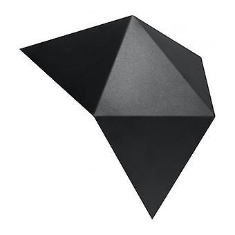 Solido sort stål væg lys 2 lys