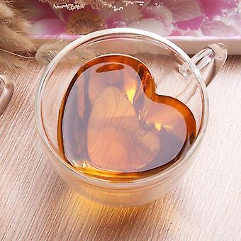 Heart Love Shaped Glass Mugs