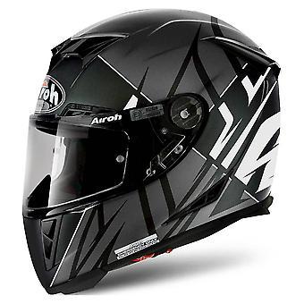 Airoh GP500 Full Face Motorradhelm schwarz weiß grau ACU Zugelassen