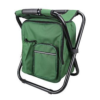 Grøn 600D PVC Oxford Cloth Coating Stålrør Multifunktionel klapstol