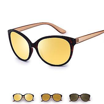 المرأة المضادة للوهج عدسة النظارات الشمسية المستقطبة الصفراء