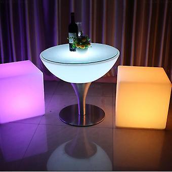Led Bar Stool, Luminous Cube Remote Changing Side Stools