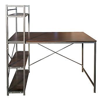 Kombinace stolní knihovny - hnědá - 120x80x60 cm
