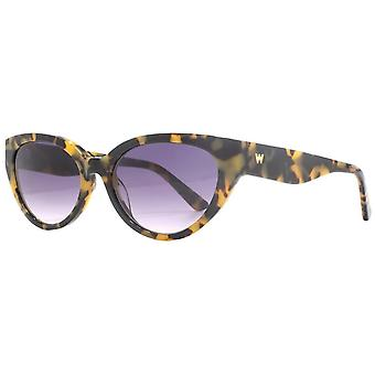 Whistles Slim Cat Eye Sunglasses - Yellow Tortoise Shell