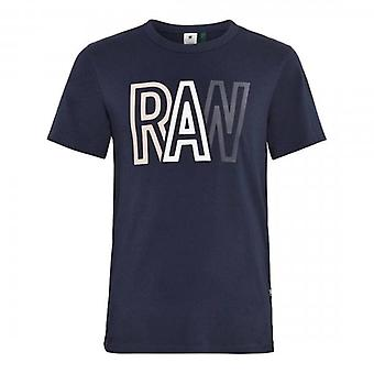 G-Star Raw Logo T-Shirt Navy D19216 336
