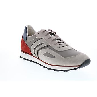 Geox U Vincit  Mens Beige Suede Lace Up Euro Sneakers Shoes