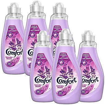 6x of 36 Washes Comfort Lavender Fabric Conditioner 1.26 Litre, Total 216 Washes