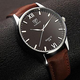 YAZOLE 318 Mężczyźni Oglądają Świetlisty Wyświetlacz Casual Style Zegar Kwarcowy Zegarki