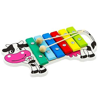 """Alatoys Wooden  Xylophone""""Cow """"painted"""