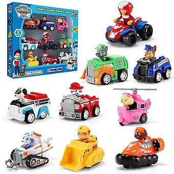 9 Stuks Paw Patrol Rescue Car Action Figures Model