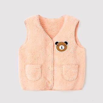 Autumn, Winter, Vest, Fur Baby Waistcoat, Kids,,, Toddler Clothes Jacket