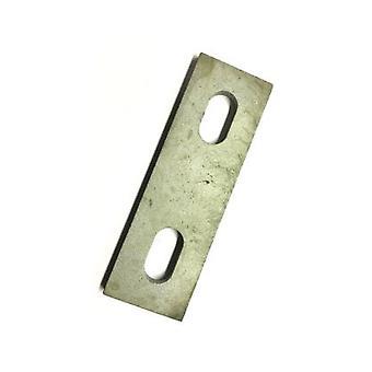 Schlitz-Backing Plate für M8 U-Bolzen (37 - 51 Mm Id) Verzinkter Milstahl