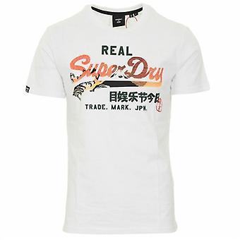 Superdry VL Itago 220 Logo T-Shirt Optic White 01C