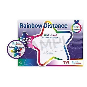 ASA zwemmen Engeland Rainbow afstand zwemmen Award - 5000M
