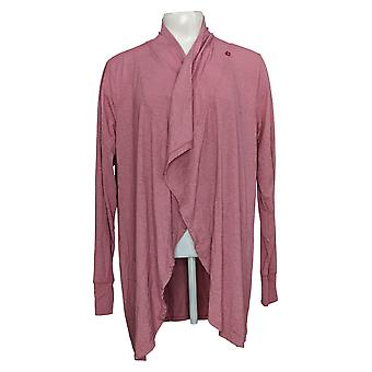 Cuddl Duds Women's Sweater Brushed Knit Cascade Wrap Pink A381700