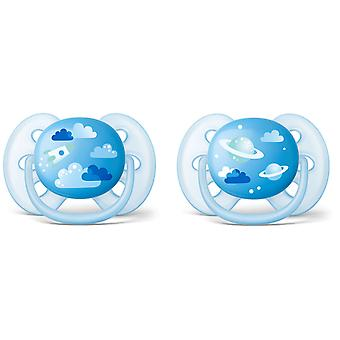 Avent Ultrasoft Pacifiers Decorated 6 to 18 Months 2 pcs