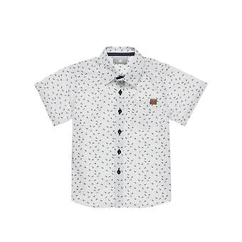 Alouette Boys' Shirt With Anchor Pattern