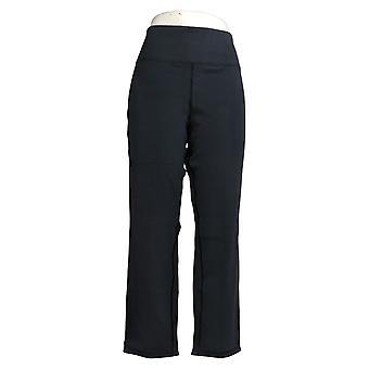 Frauen mit Kontrolle Frauen's Petite Hose Reversibles Slim Leg Blue A390043