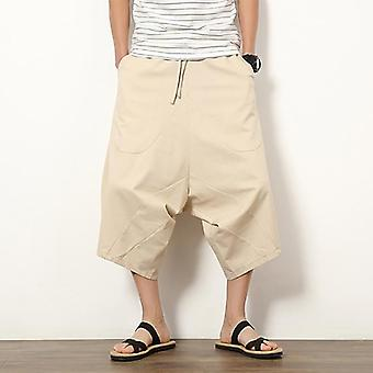 Wide Leg Trousers, Cotton And Linen, Harem Pants, Summer Casual Loose Pant