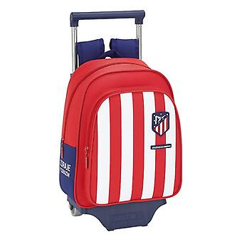 School Rucksack with Wheels 705 Atlético Madrid Blue White Red