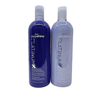 Rusk Deep Shine Platinum X Shampoo & Conditioner Set 33.8 OZ Each