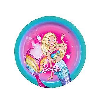 8 Petites assiettes en carton Barbie Dreamtopia 18 cm