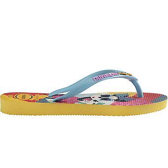 Havaianas Girls Kids Disney Cool Summer Beach Holiday Sandals Flip Flops - Gold
