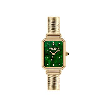 Lola Rose Lr4150 Green Dial Stainless Steel Strap Watch For Women