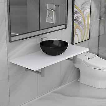 vidaXL 2-pcs. Bathroom furniture set ceramic white