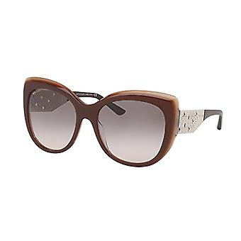 Bulgari 0BV8198B 54423B 57 Sunglasses, Brown (Trilayer Brown Beige/Pinkgradientgrey), Woman