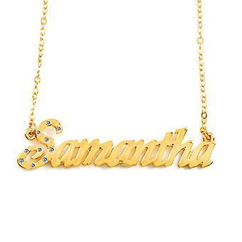 KL Samantha - 18 karan kullattu kaulakoru, säädettävä ketju 16-19 cm, lahjapakkauksessa
