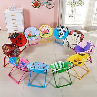 Kids Folding Beach Chair Small Moon Recliner Baby Cartoon Backrest Children Chair Non-slip Wear-resistant Exquisite