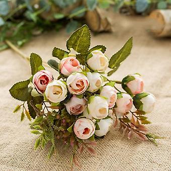 シルクティーローズ花嫁ブーケクリスマス、ホームウェディング、新年の装飾、