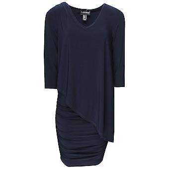 Frank Lyman Three Quarter Sleeve Overlay Dress