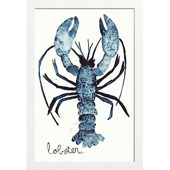 JUNIQE Print -  Lobster - Meerestiere Poster in Blau & Weiß