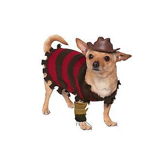 Nightmare On Elm Street Freddy Krueger Dog Costume