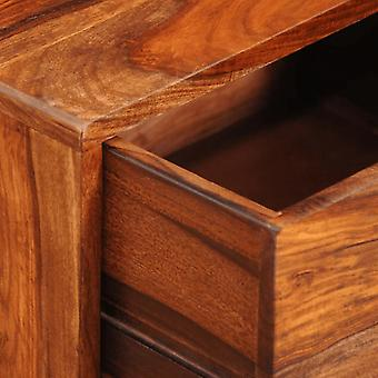 vidaXL nachtkastje met 1 lade 55 cm massief hout