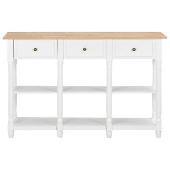 vidaXL Konsoli pöytä Valkoinen 120x30x76 cm MDF