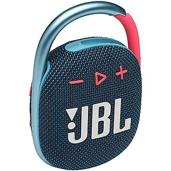 JBL CLIP 4 - Portable and lightweight Bluetooth speaker with integrated carabiner - Waterproof and dustproof - Battery life 12 hrs, Blue-Pink
