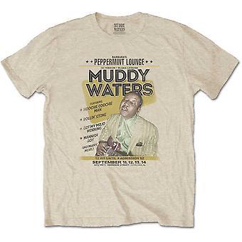 Muddy Waters - Peppermint Lounge Camiseta Média Masculina - Areia