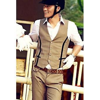 Women Men Horse Riding Clothes Vest Shirt Pants