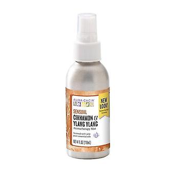 Aura Cacia Aromatherapy Mist, Cinnamon/Ylang Ylang 4 oz