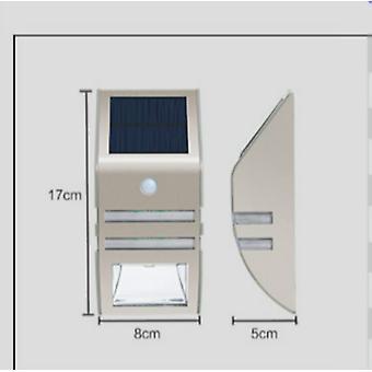Zestaw 2 solarnych lamp ledowych Mianbaoshu-wodoodporne-ze stali nierdzewnej-ściany kinkiety na zewnątrz