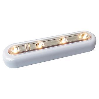 4 Led Touch Sensor Night Light Closet Cabinet Lamp(Warm White)