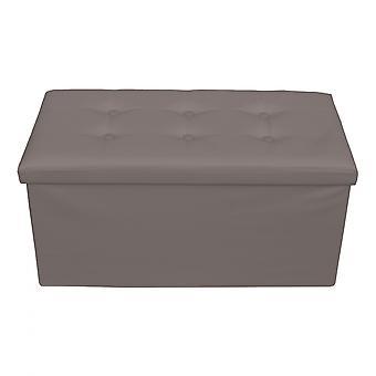 Rebecca Furniture Puff Stool Baule Grey Container Design Modern 38x76x38