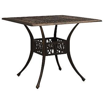 vidaXL garden table bronzes 90x90x73 cm aluminium casting
