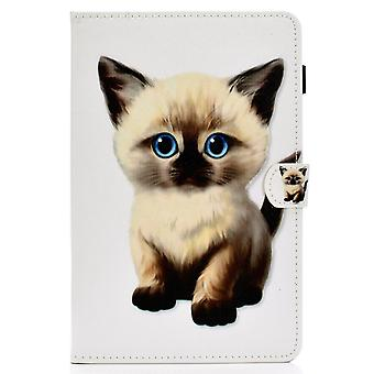 Case For Ipad 6 9.7 2018 Cover With Auto Sleep/wake Pattern Magnetic - Cute Cat