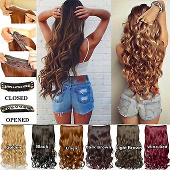 Clip In Hair Extensions Long Curly Wig Resistant Synthetic