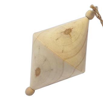 12cm naturlig trä diamant julgran bauble att dekorera